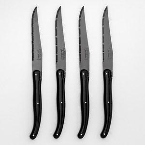 Нож для мяса с черным лезвием Laguiole Jean Dubost (комплект из 4 штук) AM.PM.