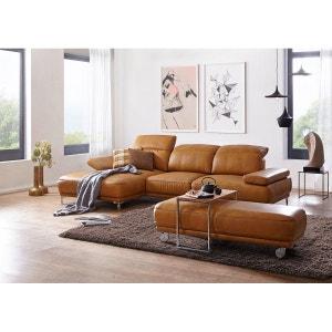 Canapé angle AM WORLDFLEX dossiers réglables chaise longue cuir Vintage curcuma SEANROYALE