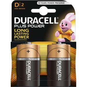 Pile DURACELL D x2 PLUS POWER LR20 DURACELL