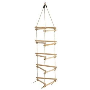 Échelle de corde en bois et chanvre 3 côtés KBT