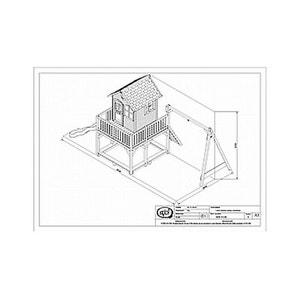 Cabane Enfant Liam 3 avec deux balançoires AXI HOUSE
