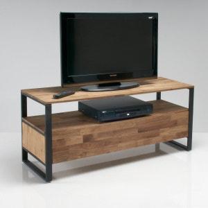 Banca para TV, de roble macizo laminado y acero, Hiba La Redoute Interieurs