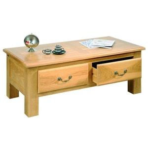 Table basse de salon MANSART - bois chêne massif HELLIN, DEPUIS 1862