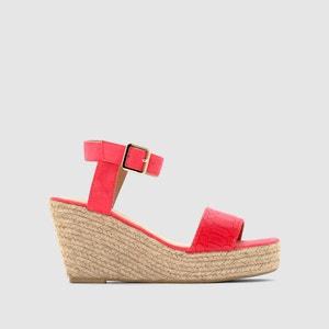 Sandalen met sleehak R essentiel