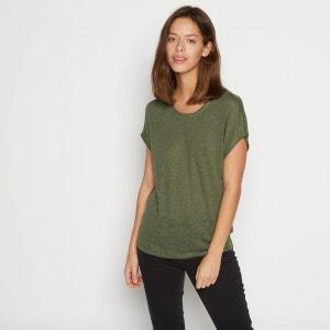 Tshirt en lin manches courtes MONOPRIX