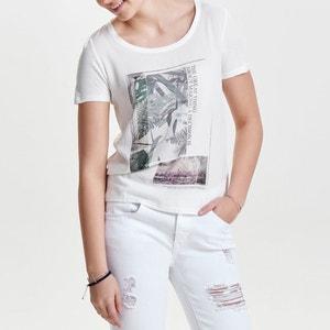 T-shirt com mangas curtas, impressão ONLY
