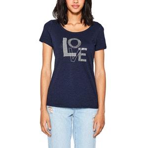 T-shirt, okrągły dekolt ESPRIT