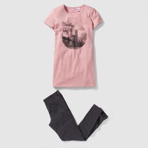 Pijama com camisa de dormir e leggings, 10-16 anos R édition