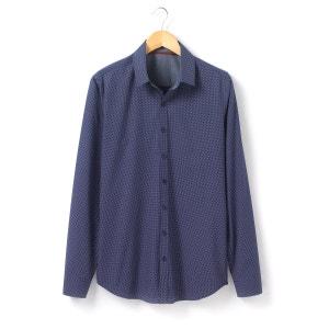 Chemise manches longues à pois, coupe regular R essentiel
