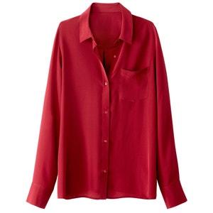 Рубашка из шелка с боковым карманом La Redoute Collections