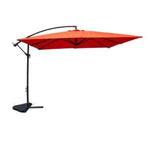 Parasol carré Solenzara terracotta 3x3 mètres CONCEPT USINE