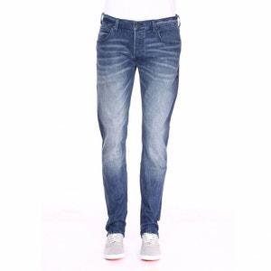 Jean coupe droite en coton mélangé stretch délavé COTON LEE 3ee0fdde9ee6