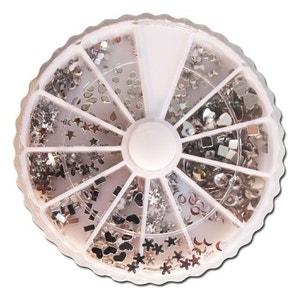 Carroussel de 580 strass argentés pour les ongles COSMETICS UNITED