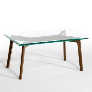 Table basse verre et noyer, Kristal AM.PM