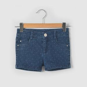 Polka Dot Print Denim Shorts, 2-12 Years abcd'R