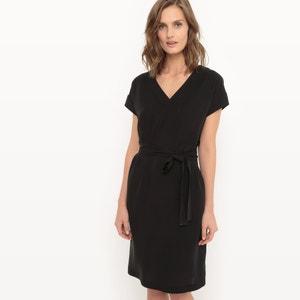 V-Neck Lyocell Dress with Belt R essentiel