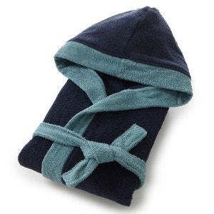 Peignoir éponge à capuche bicolore coton 380g/m² La Redoute Interieurs