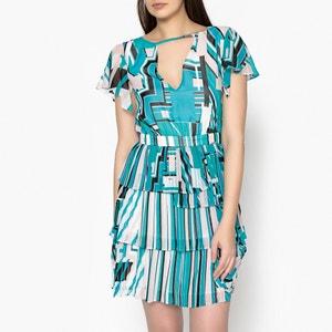 Short Dress with Pleated Ruffles LIU JO
