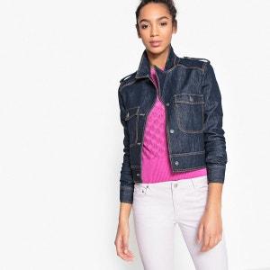 Veste en jean courte cintrée La Redoute Collections