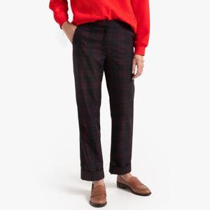 Slim broek met Schotse ruit
