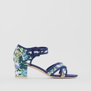 Mid-Heel Tropical Print Sandals MADEMOISELLE R