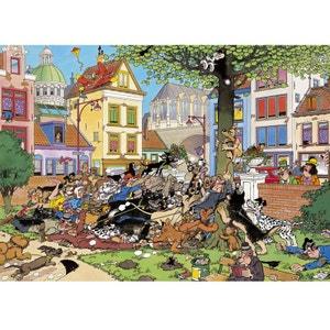 Jan van Haasteren - Puzzle Comic 500 Attrapez-Moi ce Chat! - DIS617277 JUMBO