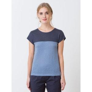 T-shirt femme en jersey de lin colorblock, HENZA SOMEWHERE