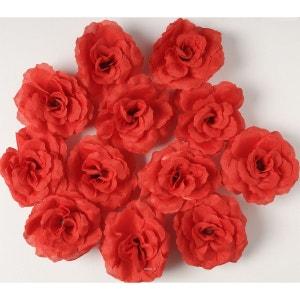 Tetes de rose Artificielle X 12 Rouge D 7 cm - choisissez votre coloris: Rouge amour ARTIF-DECO