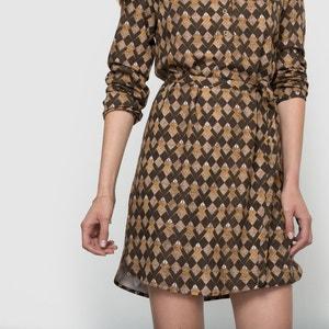 Long-Sleeved Printed Dress PARAMITA