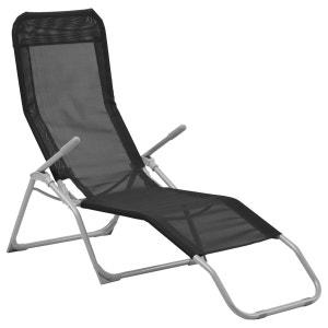 Transat / Chaise longue Siesta - Noir COTE DETENTE