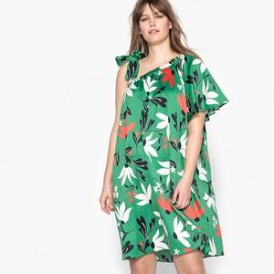 Vestido evasé largo, sin mangas, estampado flores CASTALUNA