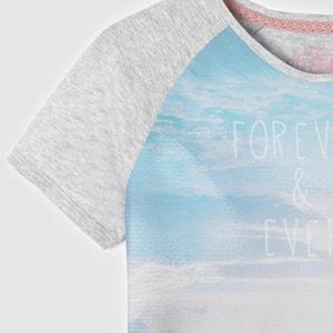 T-shirt com impressão fotográfica 10-16 anos R pop