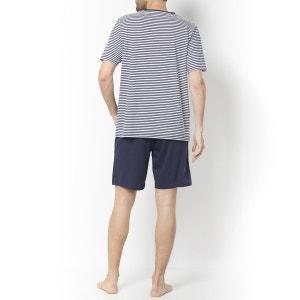 Pijama con short de punto de algodón La Redoute Collections