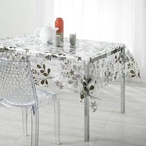 Nappe imperméable rectangulaire en PVC - 140 x 240 cm - Imprimé feuilles de printemps DOUCEUR D'INTÉRIEUR
