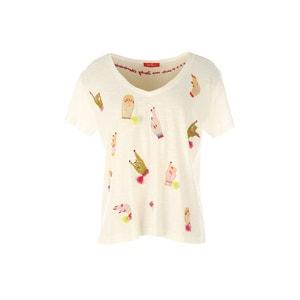 Bedrukt T-shirt met korte mouwen RENE DERHY