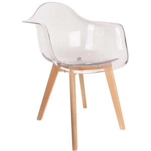 Chaise scandinave avec accoudoir transparent FJORD DECLIKDECO
