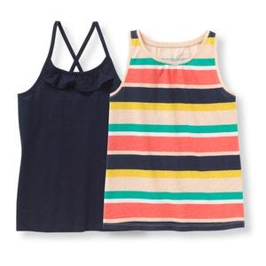 Pack of 2 Vest Tops (1 Striped + 1 Plain) R édition