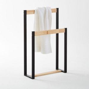 Porte-serviette en métal et pin, Hiba La Redoute Interieurs