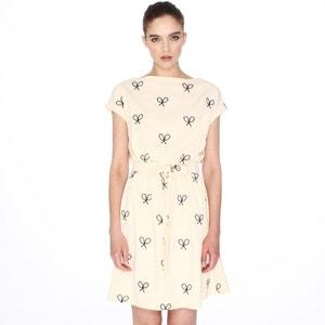 Sukienka z krótkim rękawem i wyszytymi rakietami tenisowymi PEPALOVES