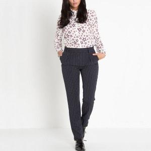 Pantalon à pinces rayé CARA CARA LENNY B