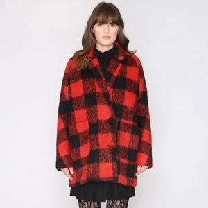 Manteau mi-long, oversize, à carreaux PEPALOVES
