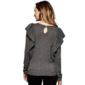 Trui in fijn tricot met ronde hals YUMI