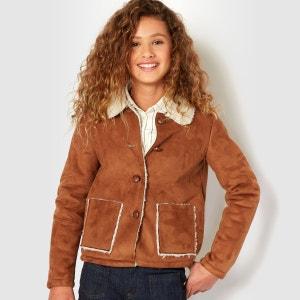 Manteau en peau lainée synthétique 10-16 ans La Redoute Collections