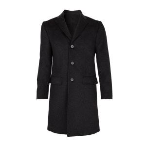 Manteau laine et Cachemire trois Quart Gris anthracite BREGAL PELCHAT