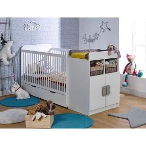 chambre b b lit matelas armoire commode langer. Black Bedroom Furniture Sets. Home Design Ideas