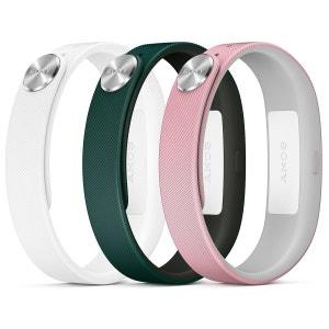Sony Bracelets Fashion S Blanc/Rose/Vert Lot de 3 bracelets de taille S pour Sony SmartBand SONY