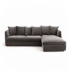 Canapé d'angle conv. Neo Chiquito, velours AM.PM
