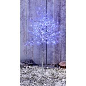 Arbre lumineux intérieur/extérieur 1,20m - 120 Led dont LED FLASH bleues - Effet scintillant - Décoration de Noël ! NONAME