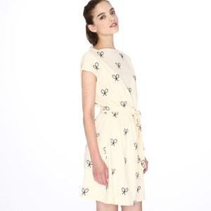 Kurzärmeliges Kleid, Stickerei Tennisschläger PEPALOVES