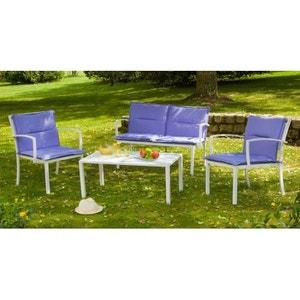 Salon détente Lilas 1 canapé + 2 fauteuils + 1 table IMAGIN